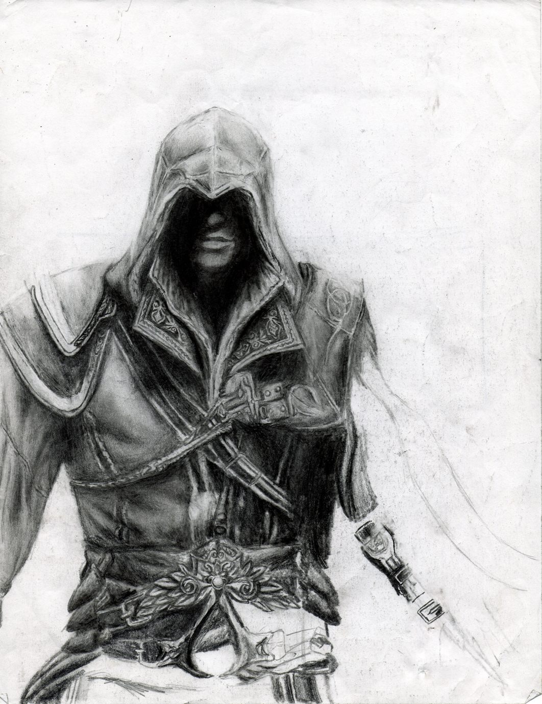 Assassin S Creed Ii Drawing Unfinished Artmkc